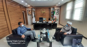 دیدار عیدانه حجت الاسلام محمد عرب با جناب آقای ابراهیم نوشادی شهردار جدید اهواز