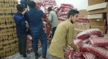توزیع ۲۰۰ بسته غذایی بین نیازمندان