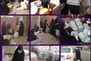 تهیه و توزیع ۳۰۰ پرس غذای گرم بین خانواده های نیازمند توسط دختران انجمنی